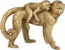 Affen-Figuren, goldfarben H16