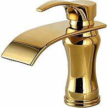 AFFLATUS europäischer Art und Weise Gold-überzogener Badezimmer-Hahn