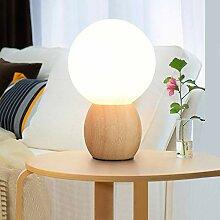 AFGD Tischlampemilch Weiße Glaskugel Lampe,