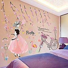 AFGD Wanddekoration Mädchen Wandaufkleber