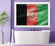 Afghanistan Fliesenaufkleber 15 20 cm Flagge Fahne