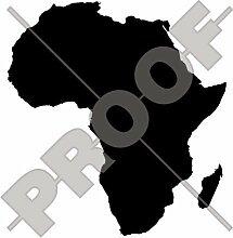 AFRICA Kartenform, afrikanischer Silhouette 130mm Auto & Motorrad Aufkleber, Vinyl Sticker - WAHL VON 22 FARBEN