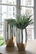 AFRICA/Vase,vernickelt/H.28cmD.14cm