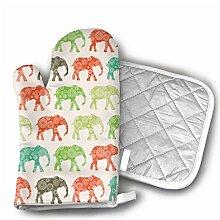African Elephants Ofenhandschuhe rutschfest für