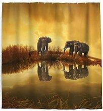 Afrika Elefant Duschvorhang mit