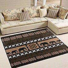 Afrika-klassischer Elefant-Bereich Teppich 4