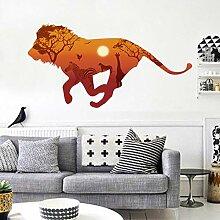 Afrika Laufen Lions Silhouette Wandaufkleber