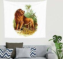 Afrika Löwe Dschungel Malerei Wandbehang