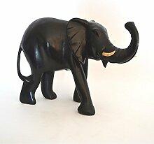 Afrika Skulptur Holzfigur Deko Elefant groß Nr 11