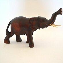 Afrika Skulptur Holzfigur Deko Elefant klein Nr 3
