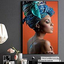Afrikanische nackte Frau Leinwanddrucke Wandbild