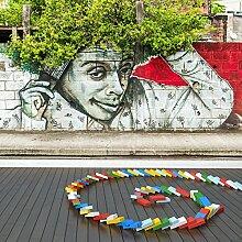 Afro Graffiti Wandbild Straßenkunst Foto-Tapete Kinder Schlafzimmer Haus Dekor Erhältlich in 8 Größen Extraklein Digital