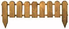 AFT Gartenzaun aus Holz, 110x3,2x28/45cm