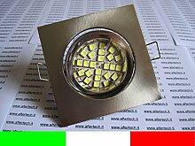 aftertech® 10x LED Einbaustrahler quadratisch