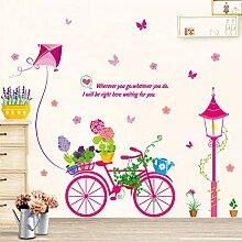 AFTUZC Wandaufkleber,Bonsai Bike Schmetterling
