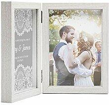Afuly Doppel Vertieft Foto Rahmen Box Bilderrahmen