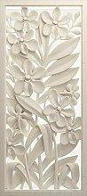 AG Design 3D Blumen Basrelief, Vlies Fototapete