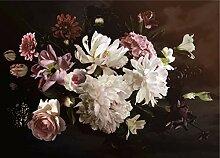 AG Design Blumen auf einem dunklen Hintergrund,