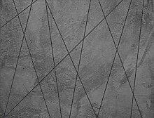 AG Design Dunkle Betonlinien, Vlies Fototapete