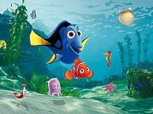 AG Design FTDXXL 2202  Findet Nemo, Papier Fototapete Kinderzimmer- 360x255 cm - 4 teile, Papier, multicolor, 0,1 x 360 x 255 cm