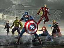 AG Design FTDXXL 2242  Avengers Marvel, Papier Fototapete Kinderzimmer- 360x255 cm - 4 teile, Papier, multicolor, 0,1 x 360 x 255 cm