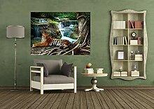 AG Design FTM 0846 Tiger am Wasserfall, Papier
