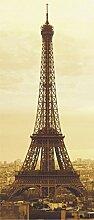 AG Design FTV 0016  Eiffelturm Paris, Papier Fototapete - 90x202 cm - 1 Teil, Papier, multicolor, 0,1 x 90 x 202 cm