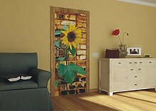 AG Design FTV 0042  Sonnenblume auf Ziegel, Papier