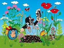 AG Design FTxxl 1462  Kleine Maulwurf, Papier Fototapete Kinderzimmer- 360x255 cm - 4 teile, Papier, multicolor, 0,1 x 360 x 255 cm