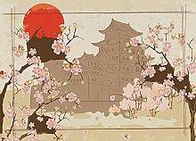 AG Design Japan, Vlies Fototapete für Wohnzimmer,