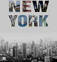 AG Design New York Schwarz und Weiß, Gardinen
