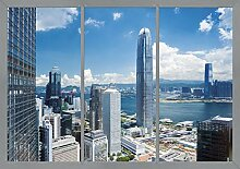 AG Design Stadtansicht vom Fenster, Vlies
