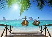 AG Design Thai Strand Boote, Vlies Fototapete 4