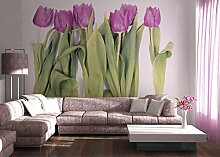 AG Design Tulpen, Vlies Fototapete 4 Teile,