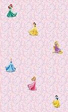 AG Design WPD 9734 Disney Princess, Vlies-Tapete, 1 Rolle, mehrfarbig, 0,1 x 53 x 10,05 cm