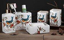 AGECC Keramik Bad Fünf Sätze Von Zahnpasta Einstiche Cup Soap Box Pflegeprodukte Im Badezimmer Dekoration J