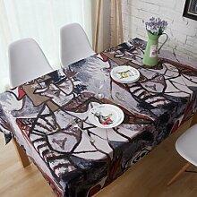 AGECC Mediterrane Tischdecken Stoff Exotische Folk