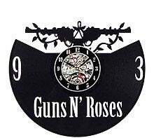 AGGG Rose Vinyl Schallplatte Wanduhr Modernes