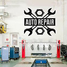 AGiuoo Auto Autoreparatur Logo Auto Service Vinyl