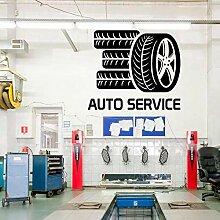 AGiuoo Auto Service Glas Aufkleber, Reifen-Styling