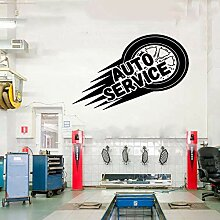 AGiuoo Auto Service Wand Vinyl Aufkleber, Reifen,
