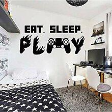 AGiuoo Gamer Ps4 Wandtattoo Eat Sleep Play