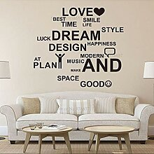 AGiuoo Love Dream Inspirational Quote Office