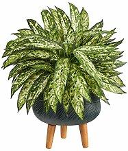 Aglaonema Kunstpflanze mit Ständer, 45,7 cm,