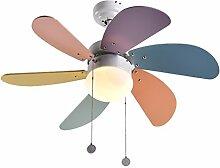 Aglia UK Kind-Decken-Ventilator-Lichter einfaches Ventilator-Licht Schlafzimmer-Kronleuchter-Restaurant-Wohnzimmer LED-Deckenlampe