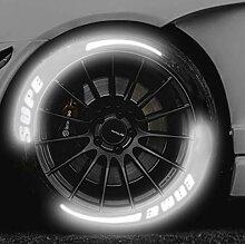 AGLKH 4PCS Reflective 3D-Autoaufkleber,