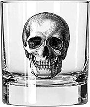 AGMdesign Skelett Totenkopf Whiskey Glas,