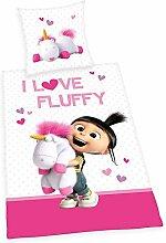 Agnes Bettwäsche glatt Minions I Love Fluffy
