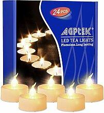 AGPTEK 24 Warm weiß Flackernde Flammenlose LED