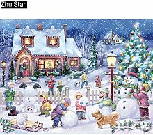 Agreey 5D Diy Diamant Malerei Cartoon Winter